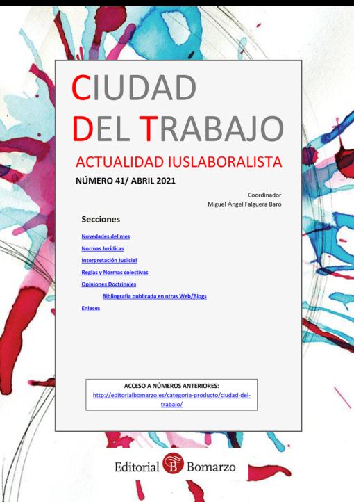 Ciudad del Trabajo Número 41 - Abril 2021